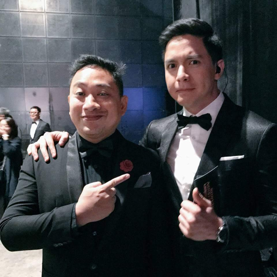 Alden Richards with Filipino Top Comedian Michael V.